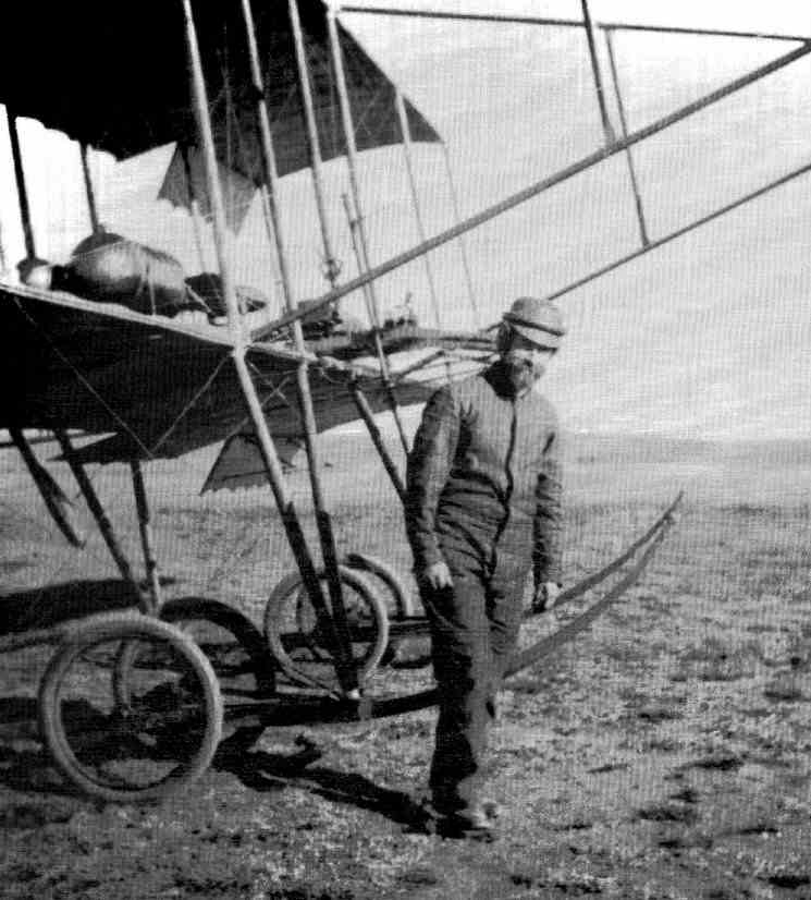 1911 John Weston with the WESTON-FARMAN