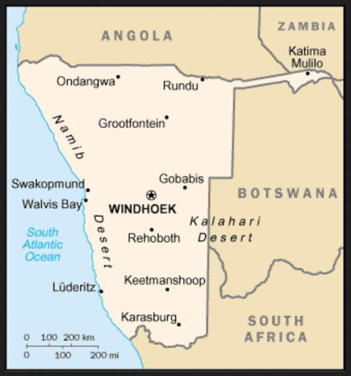 NAMIBIA formerly South West Africa